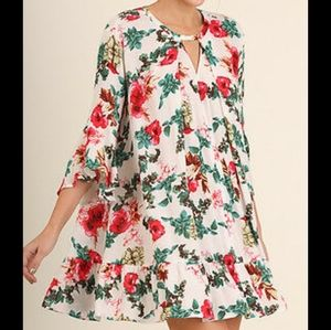 UMGEE floral swing tunic dress  small